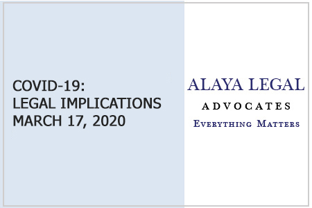 COVID-19: LEGAL IMPLICATIONS MARCH 17, 2020