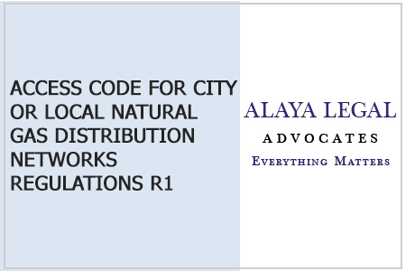 ACCESS CODE FOR CITY OR LOCAL NATURAL GAS DISTRIBUTION NETWORKS REGULATIONS R1
